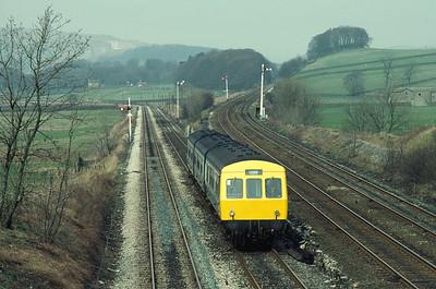 Class 101 DMU at Settle Junction 3/4/82