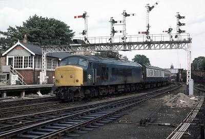 45118 12.55 Scarborough- Bangor at Falsgrave box 22/8/85