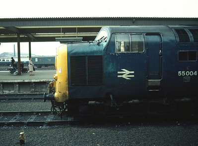 55004 at York having come off 1V89 Edinburgh Plymouth 24/10/81