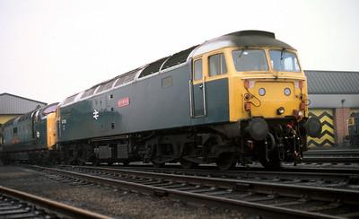 55021 and 47703 at Haymarket MPD 7/11/81