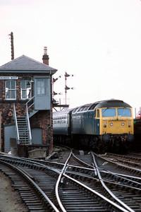 47 415 arriving at Dundee  (11.25 Glasgow – Aberdeen)  June 1982