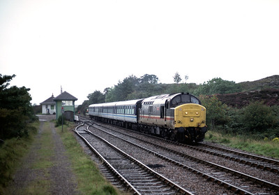 37402 leaving Arisaig in the pouring rain  14.20 Mallaig -  Fort William	4/9/92