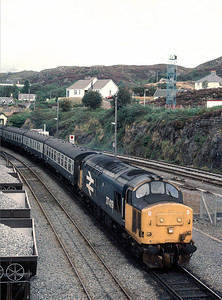 37 419 arriving at Kyle of Localsh with 13.47 arrival from Inverness 30/8/86