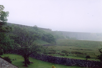 The view from room 8 of the Station Inn, Ribblehead. 66019 heads north onto Ribblehead Viaduct with 6M20 0443 Drax Power Station to Newbiggin loaded gypsum. I was woken numerous times during the night by the passing loaded and empty coal trains.  Time for breakfast!