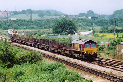 This is another Mondays Excepted working that is running on a Monday.  66097 wheels a rake of 15 empty BDA and BBA steel flats as 6E35 1114 MX Llanwern Steel Works to Lackenby Steel Works deep in the Eastern Region.