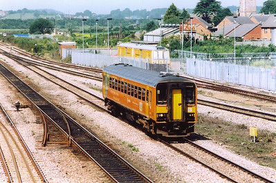 """It always amazes me how a one vehicle unit stopping at every station on a journey that lasts for an hour can be given a class 1 """"express"""" headcode.  This is an example of just that, 153312 is diagrammed to 1G58 1010 Cardiff Central to Gloucester."""