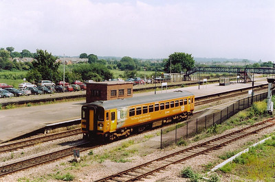 Another orange bubble car departs Severn Tunnel Junction station with the 1120 Bristol Temple Meads departure to Cardiff Central.  This is another train that I can not find a headcode for.