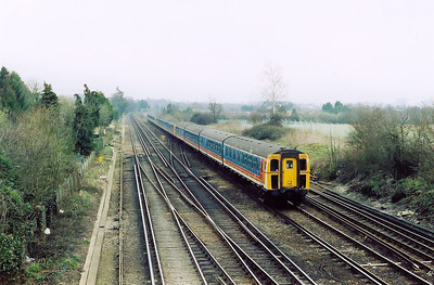 This rake of three class 423 4VEP emu's has been seen earlier in the morning working a Portsmouth to Waterloo service.  Now a few hours later they head back to Portsmouth Harbour from Waterloo, 1109 off the London terminus station, train headcode being 1T29.
