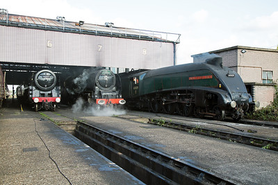 Later in the morning and 46233 has been out and back on a turning move, the reason it was in steam.