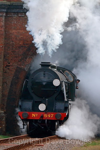 11th March 2015. S15 No 847 on the Bluebell Railway. A Jon Bowers Charter.