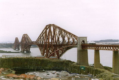 New Year's Day and nothing north of Edinburgh or Glasgow stirs on the railway...except 44767 working two round trips from Edinburgh round the Fife Circle and back to Edinburgh. The Black Five comes off the Forth Bridge with the first train.  1/1/1997