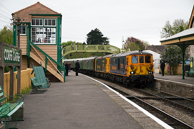GBRf are enthusiastic supporters of the Swanage Diesel Gala and usually supply a loco or two.  This year is no exception and 73961 and 73119 have made the trip.