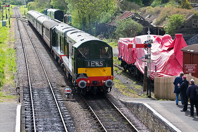 The pair are actually working 2N08 1045 to Norden from  Swanage, a class 2 service.