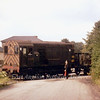 Braintree freight crossing road from coal depot behind D3299 later 08299.  1963.  Revd A. Sandeman