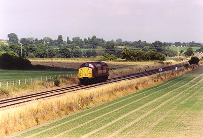 The previously seen light class 37 loco 37114 returns east , details of its travels are not known.