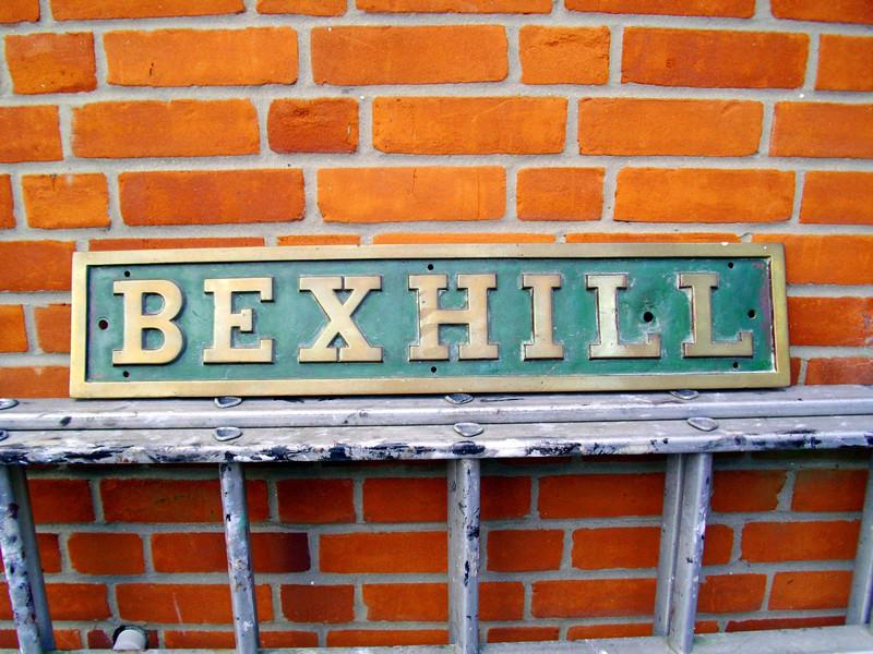 Bexhill Nameplate.