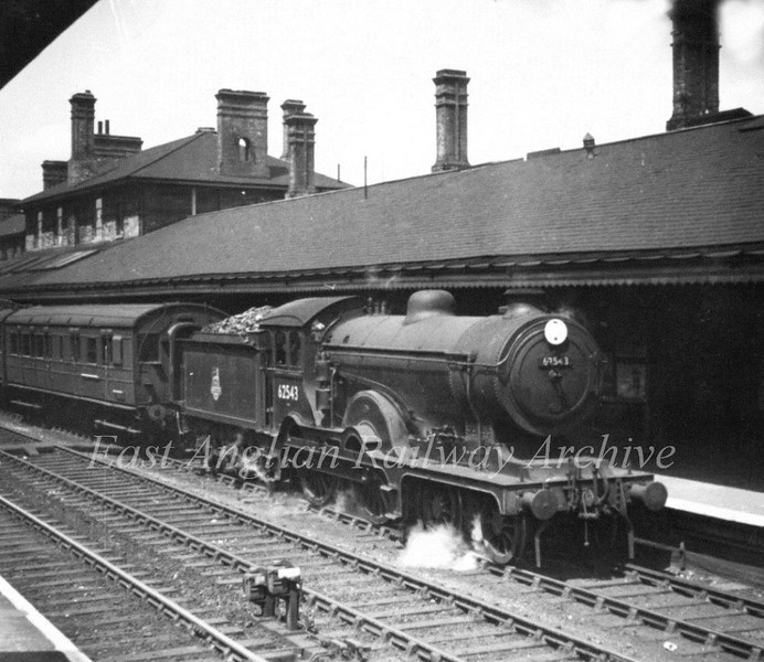 Class D16 4-4-0 Claud Hamilton No. 62543 stands at Ipswich.