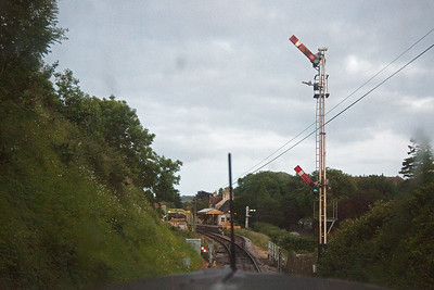 My favourite signal on the line, Corfe's double acting down home signal.  This will be replaced in February 2018 with a gantry and be located several hundred yards before this signal.  The gantry will give signalled access into the up platform in the  down direction.