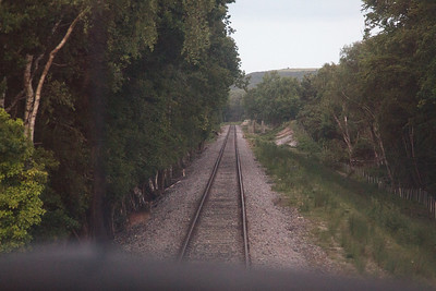 Now looking down the straight from Furzebrook towards Motala.  This was the original point that the relaid Swanage Railway joined the National Network.  The track here was used as a long storage siding for oil tanks for many years.