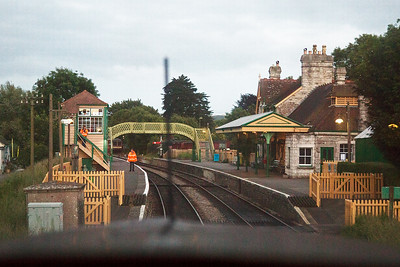 The beautifully restored station of Corfe Castle  and a real gem for the Swanage Railway.