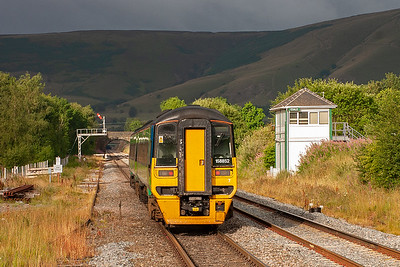 It is not just the darkness of Cowburn Tunnel that lies ahead of 158852 as it departs Edale with 2S09 0714 Sheffield to Manchester Piccadilly.