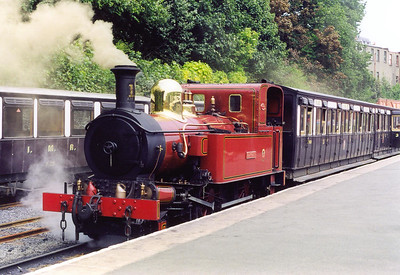 No 11 sits at Douglas with the 1410 to Port Erin.
