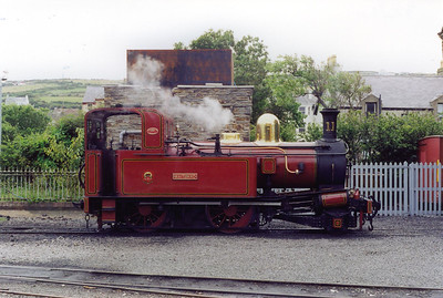 At the other end of the line, Maitland reposes on Port Erin shed.  23/7/1999