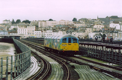 On time the small two car unit departs Pier Head for the run to Shanklin. It is due there at 1831 having stopped at 6 intermediate stations.