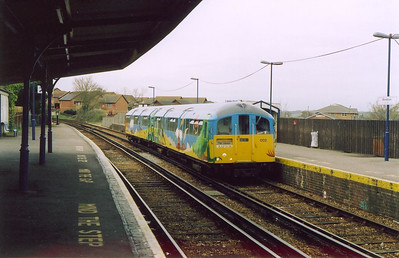 The other unit in traffic on this day is 002, here it runs into Sandown station with the 1115 from Shanklin. The station has double track as trains pass here, but not on this occasion.