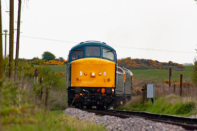 The Harmans Cross shuttle returns to Norden with 45133 leading on 2H20 1545 off. The train comes off the common dropping down at 1 in 80.