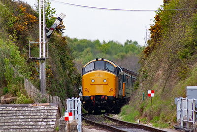 After a quick turn round at Norden, 37264 remains on the shuttle service working 2H16 1450 from Norden to Harmans Cross.