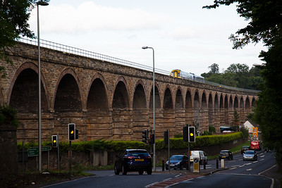 Eight days later I am back on the route for a day of photography.   One of the major reasons why the line was deemed feasible was the fact that Newbattle Viaduct still stood and was in excellent structural condition.  An unknown class 158 crosses the 23 arch viaduct with 2T65 0859 off Tweedbank to Edinburgh.  17/9/2015