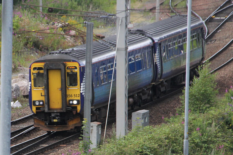 156 512 on 1L55 (1457 DMF to CAR) passing Caldew Junction. Carlisle 25 July 2015