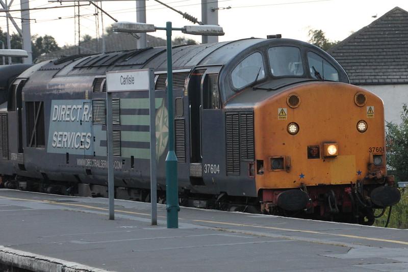 37 604 on 2C47 (1732 BIF to CAR) arriving in Platform 1. Carlisle 25 July 2015