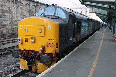 37 402 on the rear of 2C47 (1732 BIF to CAR) on Platform 1. Carlisle 25 July 2015