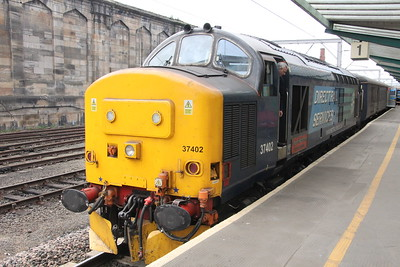 37 402 on 2C34 (1433 CAR to  BIF) at Platform 1 Carlisle 25 July 2015