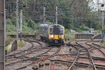 350 402 on 1S56 (1200 MIA to EDB) arriving at Carlisle. Carlisle 25 July 2015