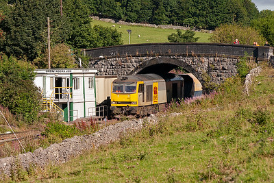 A small gallery is visible on the right of the over bridge as 60061 passes Great Rocks Junction signalbox which is most definitely NOT of a Midland Railway design.