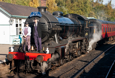 The loco crew pose on the front of the engine, husband and wife John and Beth Furness will take the train to Pickering and back.