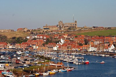 The tall road bridge over the river provides a wonderful viewpoint for Whitby and the famous Abbey. It is in this condition as the Germans bombed it during WW1 using Zeplins and hand held bombs.