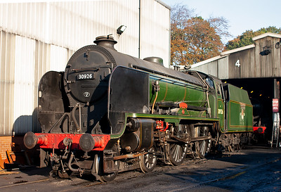 Also on shed but not in steam is an example of Maunsell's 1930 design class V 4-4-0 all named after famous public schools. This is 30926 Repton.