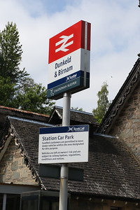 Station sign in the Car Park