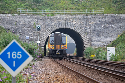 Bincombe No 2 tunnel is just 48 yards long and passes below what was the main road between Weymouth and Dorchester, but no longer.