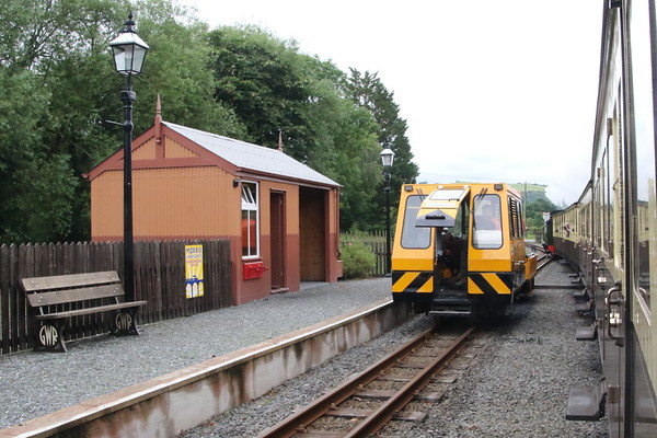 Trackside maintenance vehicle at Capel Bangor