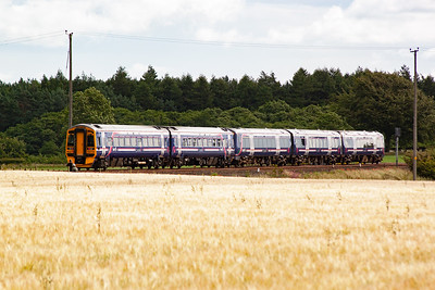 The pair speed on towards their next stop of Cupar a few miles away.