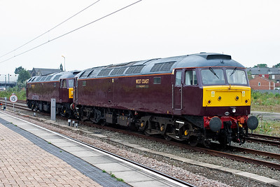 West Coast Railways have two class 47 locos on standby for any failures of the steam locos on the Scarborough Spa Express duties. The pair are 47804 and 47826.