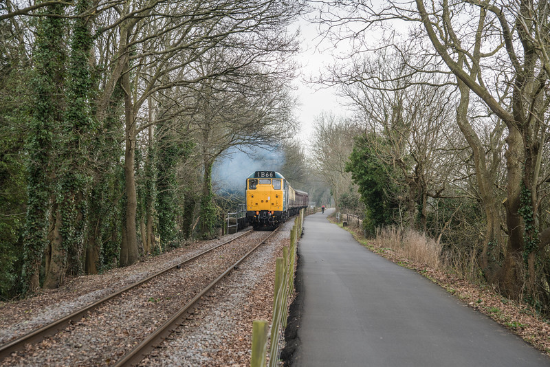 31101 on more half term trains, Avon Valley Railway, 18/2/17