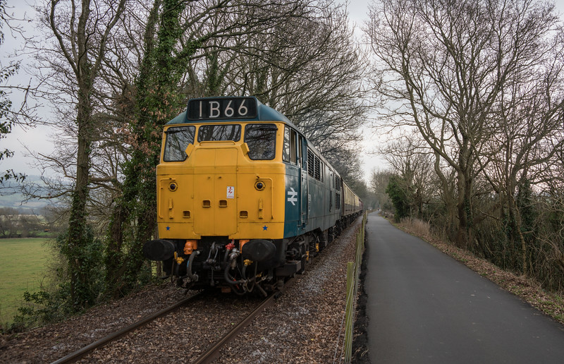 31101 on more half term trains, Avon Valley Railway, 18/2/17