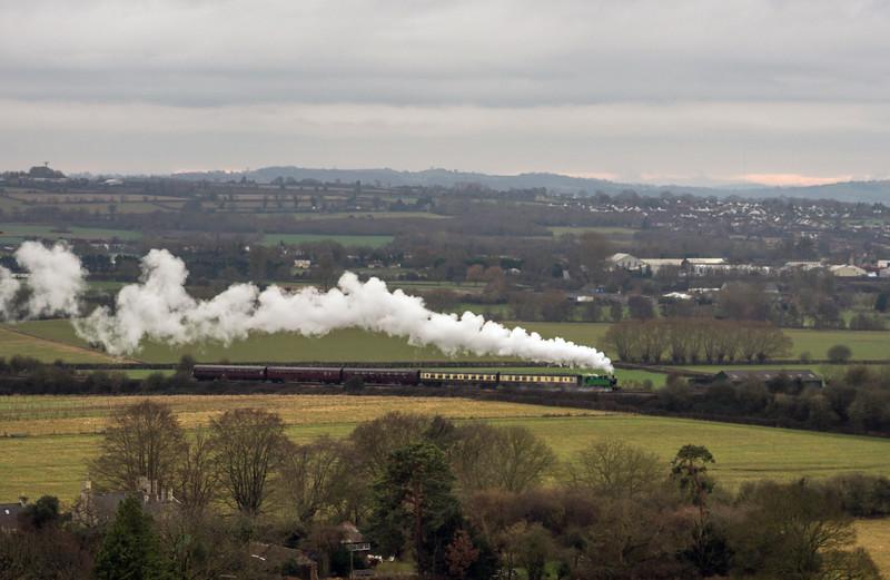 Tkh 4015 Karel on Mince pie/sherry specials at Avon Valley Railway 31/12/16