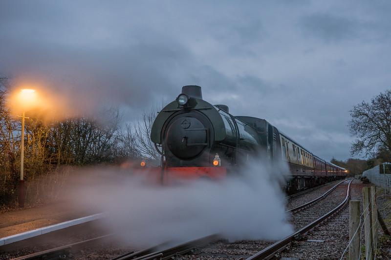 Sapper on Santa duties, Avon Valley Railway. 23/12/16
